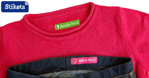 Etiquettes vêtements Stikets thermocollantes