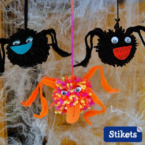 Araignées Halloween Stikets