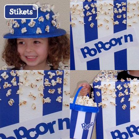 D Guisement Fait Maison Pour Enfant La Boite Popcorn Stikets Club
