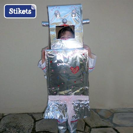 D Guisement Fait Maison Pour Enfant Le Robot F Minin Stikets Club
