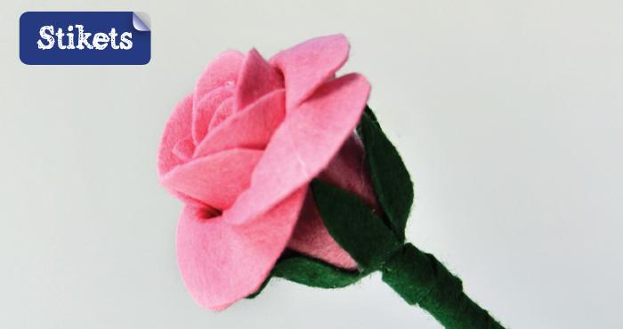 Roses feutrine 1