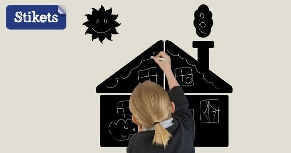 stickers ardoise maison