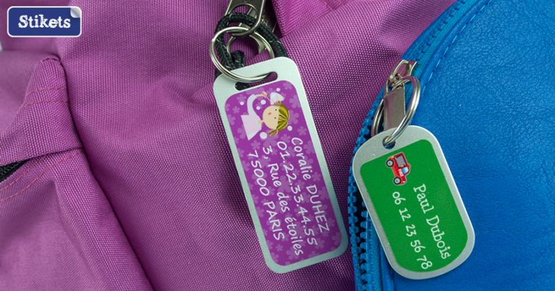 étiquettes à bagages Stikets