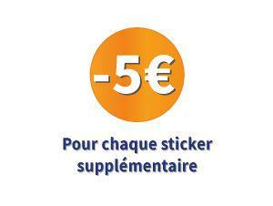 5€ pour chaque sticker supplémentaire