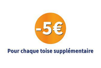 5€ de réduction par unité supplémentaire