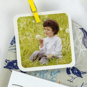 Etiquette communion carrée avec photo (24 u)