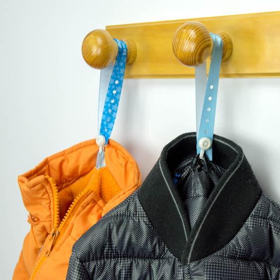 Attaches en tissu personnalisées à fermeture sécurisée