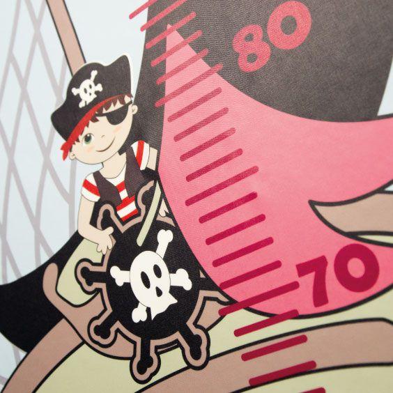 Toise personnalisable Bateau de Pirate