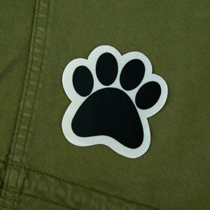 Patch thermocollant en forme de patte d'animal pour textile