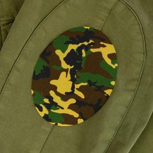 Patch thermocollant ovale motif camouflage pour textile