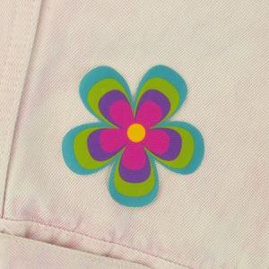 Patch thermocollant motif fleur pour textile