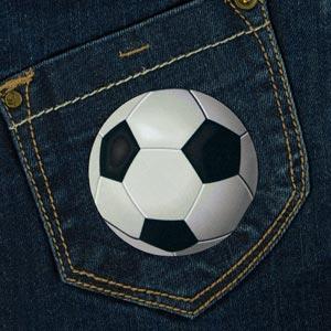 Patch thermocollant motif balon de foot pour textile