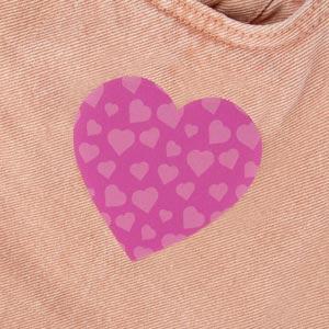 Patch thermocollant motif coeur pour textile
