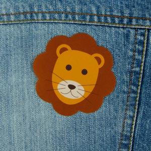 Patch thermocollant motif lion pour textile