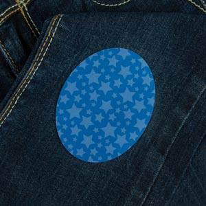 Patch thermocollant ovale motif étoiles pour textile