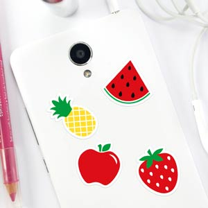 Stickers téléphone en forme de fruits