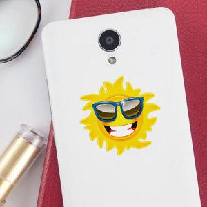 Stickers téléphone en forme de soleil