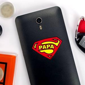 Stickers téléphone bouclier Super Papa